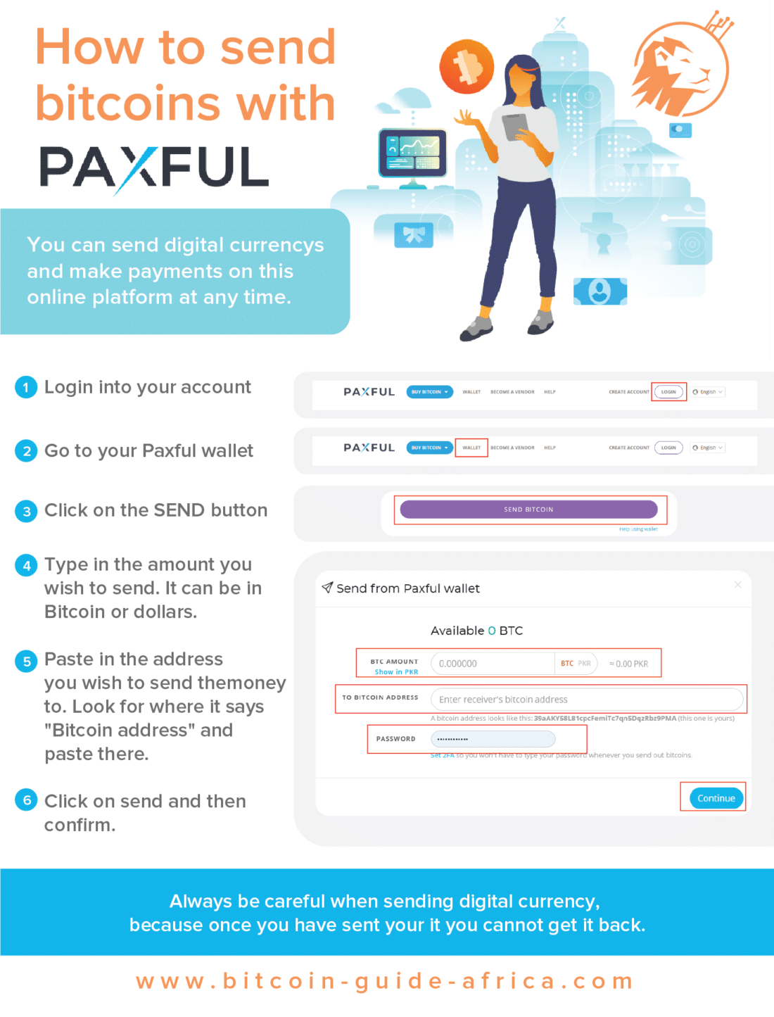 Send bitcoins with Paxful
